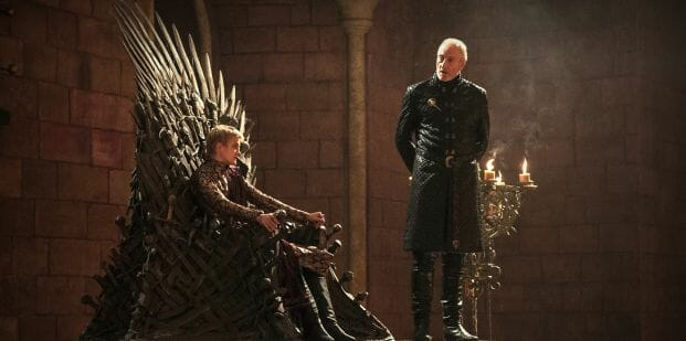 Jack Gleeson (Joffrey Baratheon) et Charles Dance (Tywin Lannister)